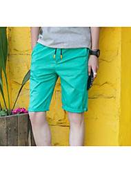 Men's Solid Casual Shorts,Nylon Blue / Green / White