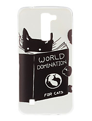 Books And Cats Pattern TPU Soft Case Phone Case for LG Series Model
