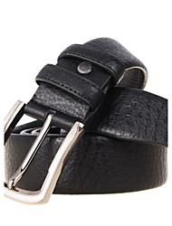 Men's Cowhide Belts Business Casual Leather Pin Buckle Strap