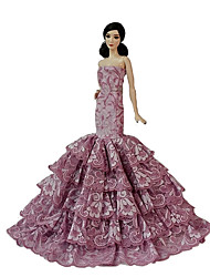 Wedding Dresses For Barbie Doll Fuschia Dresses