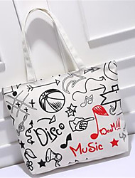 Women PU Formal Tote White