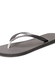 Men's Slippers & Flip-Flops Spring Summer Flip Flops Rubber Casual Flat Heel Others Black Blue Gray Upstream shoes