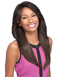 Women Long Natural Black Synthetic Wigs Medium Bang Heat Resistant Fiber Cheap Cosplay Party Wig Hair