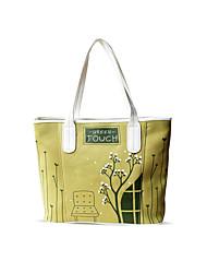 Flower Princess® Women Canvas Tote Green-DJ2022A02