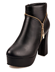 Homme / Femme / Unisexe-Extérieure / Décontracté / Sport-Noir / Rouge-Gros Talon-Bout Arrondi-Chaussures à Talons-Similicuir