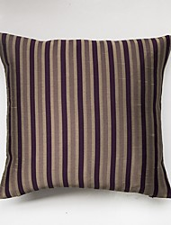 Satin Striped Cushion Cover-Purple