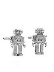 1 Pair Silver Robot Cufflinks for Men  Christmas Gifts