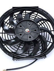 "DC 24V 7A 12"""" 10 Blades Auto Car Air Conditioner Cooling Fan Black"