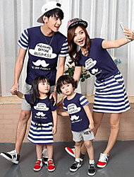 Short Sleeve Cotton Family Clothing Sets,Summer Clothing Set