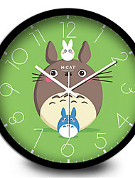 Lovely Children'S Room Decoration Home Furnishing Totoro Cartoon Mute  Quartz Wall Clock
