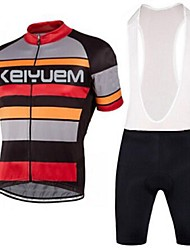 KEIYUEM®Others Men's Cycling Jersey Short Sleeves + BIB Shorts ropa ciclismo Cycling clothing Suits #57