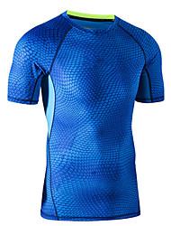 Ciclismo Tops Unisex Bicicleta Transpirable Mangas cortas Eslático Terileno Moda Azul S / M / L / XL / XXL / XXXL Fitness Verano