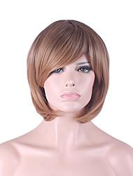 más vendido de Europa y los Estados Unidos cos puntos parciales luz peluca marrón degradado bobo 12 pulgadas
