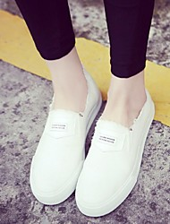 Women's Shoes Canvas Spring / Summer / Fall Espadrilles Loafers / Athletic / Casual Flat Heel Stitching LaceBlack /