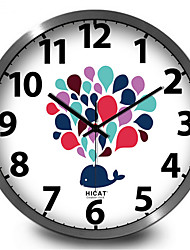 Elegant Fountain Fish Room Wall Clock
