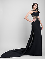 TS Couture® Formal Evening Dress Trumpet / Mermaid Bateau Court Train Chiffon with Beading