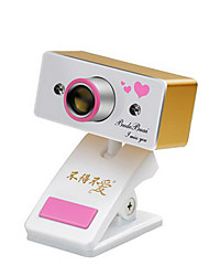 USB 2.0 Webcam 0.8M CMOS 1024x768 30FPS Gold