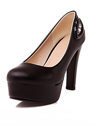Women's Shoes Leatherette Spring / Summer / Fall Heels Heels Office & CareerDrag queen extra large high heels
