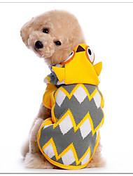 Katzen / Hunde Kostüme / Pullover / Kapuzenshirts Gelb Hundekleidung Winter / Frühling/Herbst Tier Cosplay / Halloween