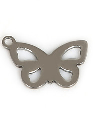 Beadia (50Pcs) 18x12mm Butterfly Shape Stainless Steel Charm Pendant Fit Necklace & Bracelet