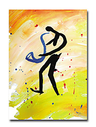 Oil Painting Modern Abstract People Hand Painted Natural Canvas With Stretched Frame