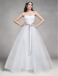 Lanting Bride® A-line Wedding Dress Floor-length Sweetheart Lace / Tulle with Lace