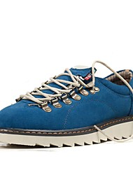 TBLS® Men's Suede Oxfords Blue / Brown / Gray-6262