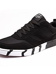 scarpe da uomo tulle moda casual scarpe da tennis casuali camminare piane altri tacco nero / blu / nero e rosso