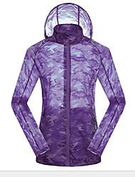 Jaqueta para Ciclismo Mulheres Manga Comprida Moto Respirável Blusas Tactel Verão / Outono Exercicio e Fitness