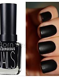 15 ml Matte Black Color Dull  Nail Polish Nail Art Nail Decorations