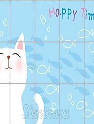 75*45CM Cats Pattern Oil-proof Sticker
