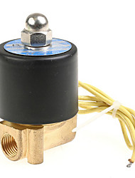 "12V DC 1/4"" Electric Solenoid Valve Water Air N/C Gas Water Air (Random Color)"
