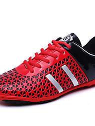 Zapatillas de Atletismo / Zapatillas de deporte(Negro / Rojo / Naranja) -Confort-Cuero Sintético