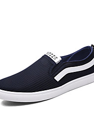 Men's Loafers Shoes Fashion Canvas Casual Breathable Mesh Flat Shoes EU39-EU44