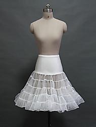 Déshabillés Robe de soirée longue Genou 5 Filet de tulle Acrylique Blanc