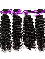 Tissages de cheveux humains Cheveux Malaisiens Ondulation profonde 1 Pièce tissages de cheveux