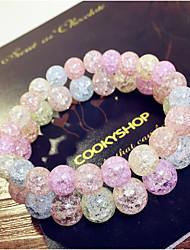 Fashionable Crystal 17cm Round Strand Bracelets
