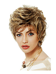 Ms Fashion in Europe And The Short Hair Golden Brown Fleeciness Nature Volume Partial Points 4 Inch