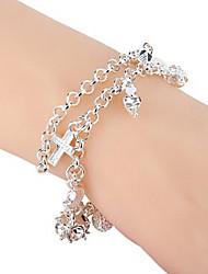 Charm Bracelet 1pc,Silver Bracelet Tassels Love / Star Friendship Gift Rhinestone  Jewelry for Women/Girls