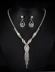 Schmuck Halsketten / Ohrringe Halskette / Ohrringe / Braut-Schmuck-Sets Modisch Hochzeit / Party 1 Set Damen Silber Hochzeitsgeschenke