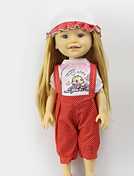 Sharon Sets Of 16-Inch Doll Clothes Fashion Princess Dress Red Hat And Clothing Accessories Three Free Baby