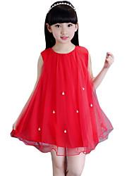 Vestido Chica de-Noche-Un Color-Rayón-Verano-Rojo