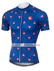 KEIYUEM Manga Curta Camisa para Ciclismo Unissexo Moto Camisa/Roupas Para EsporteRespirável Secagem Rápida Resistente Raios Ultravioleta