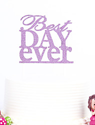 1 PC Cake Toppers MultiColor Best Day Ever