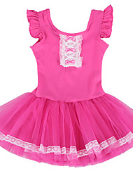 Fancy Ballet Tutu Dress for Toddler Girls Flutter Ruffle Short Sleeve Gymnastics Leotard Professional Ballet Tulle Dress