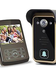 visuel interphone sonnette à perdre 2,4 g 3,5 caméra réglable -inch