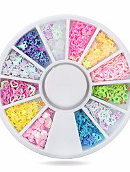 Hot Colorful Star/heart Nail Art Stickers Tips Decoration Wheel Glitter Nail Rhinestone Decoration Tools