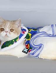 Katzen / Hunde Mäntel / Kleider Blau / Rose Hundekleidung Winter / Frühling/Herbst Blumen / Pflanzen Modisch