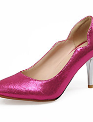 Damen-High Heels-Büro / Kleid / Lässig-Kunstleder-Stöckelabsatz-Absätze / Pumps / Spitzschuh-Blau / Silber / Gold / Fuchsie
