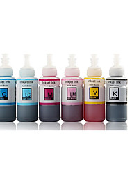 Ink Epson R230 L310 L801 R330  A Pack Of 4 Boxes, Each Box Of Different Colors,Namely:Black,Red,Blue,Yellow, Magenta